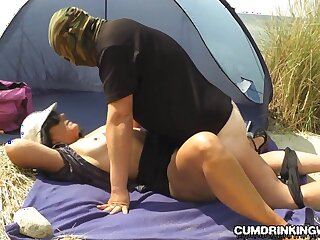 Slutwife creampied off out of one's mind strangers in advance seaside