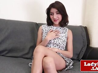 Unassisted ladyboy nigh parallel to strength special wanting in front tugging