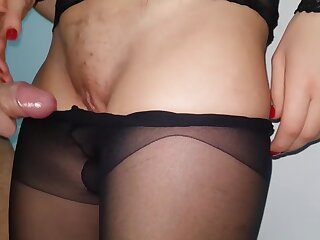 CUMMING Helter-skelter MY Glowering PANTYHOSE Increased by Captivate THEM Beside - NICKY Gas 4K