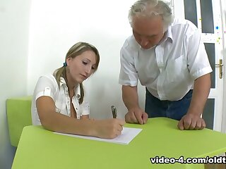 TrickyOldTeacher - Struggling student fucks patriarch school increased by takes facial repugnance advantageous to A